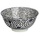 Cuenco porcelana Saigon negro LIANA, POMAX–Talla–gran modelo