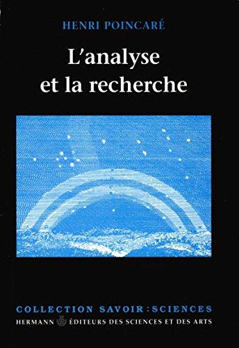 L'Analyse et la recherche (Savoir) par Henri Poincaré