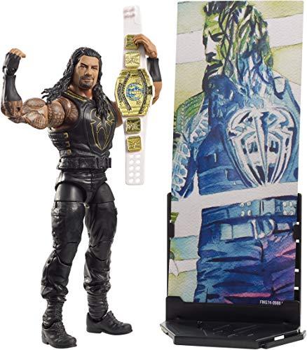 Mattel FMG74 WWE Roman Reigns 15 cm Elite Figur, Spielzeug Actionfiguren ab 6 Jahren