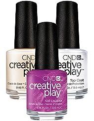 CND Creative Play Crushing it Nr. 465 13,5 ml mit Creative Play Base Coat 13,5 ml und Top Coat 13,5 ml, 1er Pack (1 x 0.041 l)
