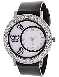 Style Keepers 2018 Round Dial Butterfly Glass Black Watch For Women Fashion Wrist Watch | Party -Wedding Watch...