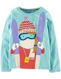 Kaily Mädchens Langarm Süß Cartoon T-shirt