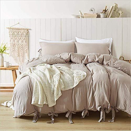 SHJIA Bettwäsche Set Baumwolle Weiche Bettbezug Set Mit Kissenbezug Single Twin Queen King Size Bettwäsche Set F 264x229cm