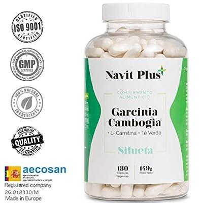 Garcinia Cambogia+L-Carnitine +Thé vert. Puissant réducteur de l'appétit, brûle-graisses naturel. Votre complément naturel pour vous aider à vous débarrasser de vos kilos superflus.180 capsules.