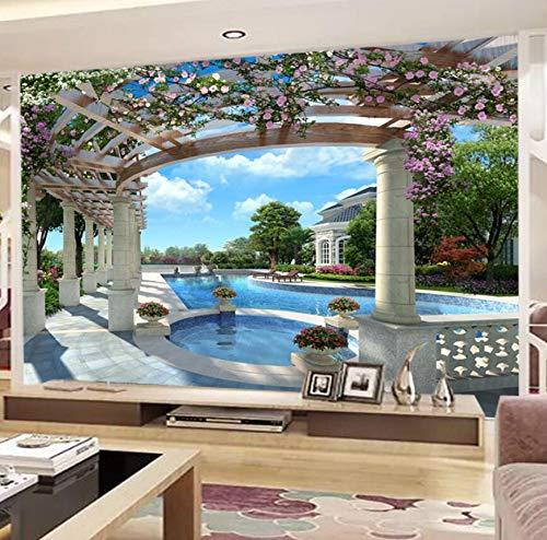 Europäische tapete stereo 3d wandmalerei wandverkleidung TV hintergrundbild wandmalerei sofa video wandtuch 350 cm * 245