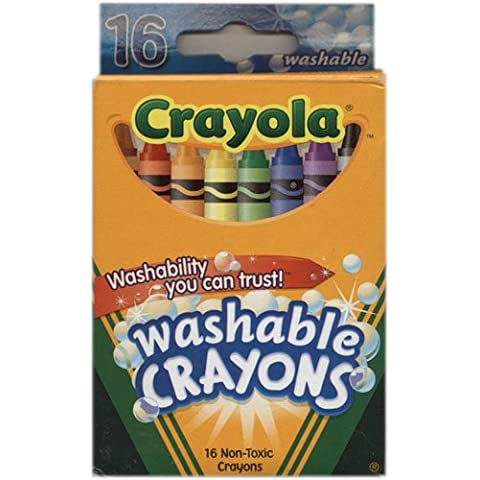 Crayola Washable Crayons 16 per box (2 Pack) by Crayola