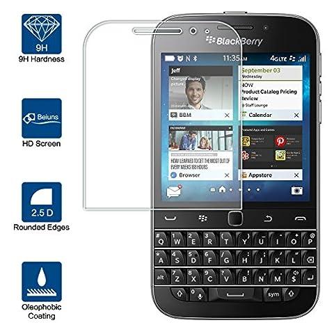 Beiuns Film Protection d'écran en verre trempé ultra dur protecteur d'écran pour BlackBerry Classic