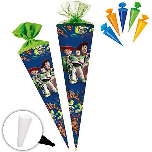 alles-meine.de GmbH Set _ Schultüte + 5 kleine Zuckertüten - Toy Story - 85 cm - 6 eckig - Tüllabschluß - Zuckertüte - mit / ohne Kunststoff Spitze - Nestler - Jungen Mädchen - A..