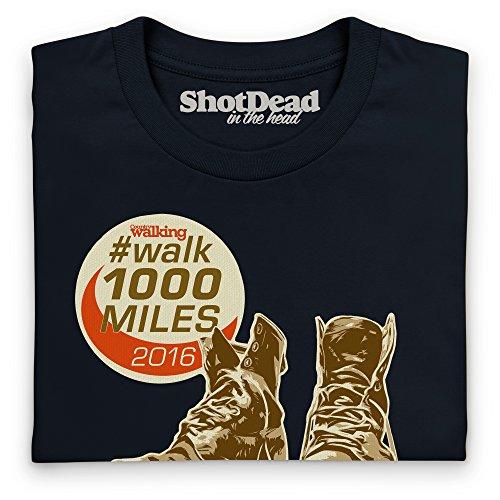Walk 1000 Miles 2016 Boots T-Shirt, Herren Schwarz