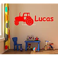 Farm Tractor Kids Personalised Any Name Wall Art Mural Decal Sticker