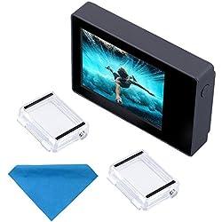 Pantalla LCD de 2 pulgadas para GoPro Hero 4, 3+, 3 y 2, de SupTig, no táctil,con funda impermeable