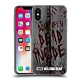 Offizielle AMC The Walking Dead Dead Inside Typografie Soft Gel Hülle für Apple iPhone X