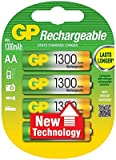 4 x AA Rechargeable 1300mAh ReCyko+ Batteries | Up To 300 Charges Per Battery |Pre-charged Holds Power up to 80% after 1 Year