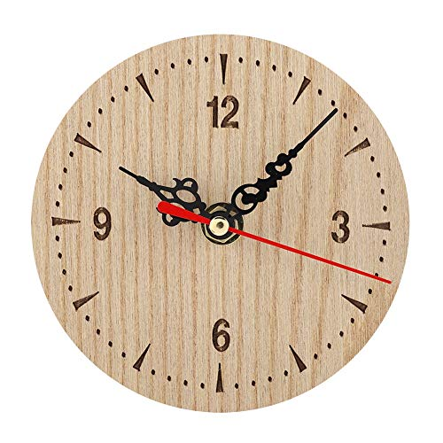 Lecxin Reloj de Mesa, Mesa Redonda de Madera Vintage Escritorio ...