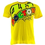 Valentino Rossi VR46 Moto GP The Doctor Gelb T-shirt Offiziell 2017