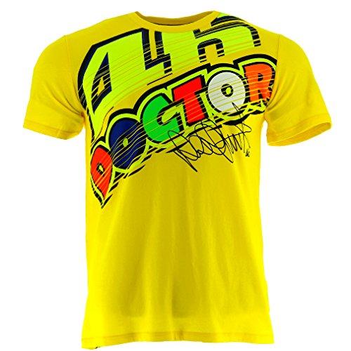 VR46Hombre Doctor 46Signature Rossi té, hombre, color amarillo, tamaño medium