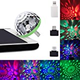 Sound Boss LED USB Party Lights Magic Ball for Mobile Phones (Multicolour)