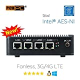 Perfect pfSense, Sophos, Untangle, Ubuntu, ClearOS, Freebsd, Monowall, Debian Etc Intel AES-NI Atom E3845 4 LAN with Wifi HD Fanless Firewall Appliance Router Barebone (0GB RAM, 0GB mSATA SSD)