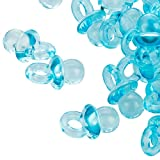 100 Hellblaue Mini Dekoschnuller - 2 cm - Schnuller für die Babyparty oder als Anhaenger - Babyschnuller aus Acryl - Kleenes Traumhandel®