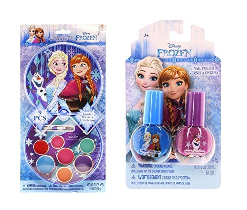 TOWNLEY GIRL Disney Frozen Nail Polish and Lip Gloss Beauty Kit For Kids-  Pack of 2
