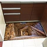 Yongqiang 3D Bodenaufkleber Teppich Treppe Wohnzimmer Badezimmer Selbstklebend Rutschfest Wasserdicht Angebracht Teppich Wandaufkleber Keine Spur Verschleißfest Einfach Zu Säubern