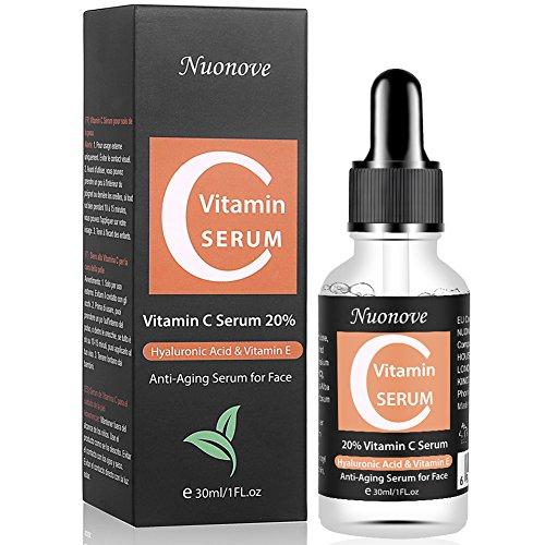 Vitamin C Serum Hochdosiert, Gesichtsserum mit Reiner Hyaluronsäure und Hochwertigem Vitamin C,...