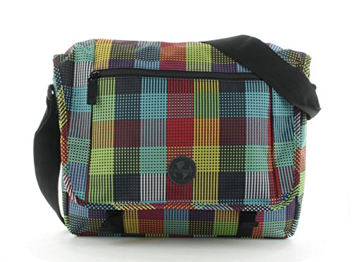 Franky Umhängetasche Messengerbag 15 Zoll Laptopfach CT2-L Check and Stripes