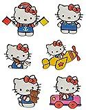 Unbekannt 6 tlg. Set: 3-D Effekt _ Wandtattoo / Fensterbild / Sticker -  Kätzchen - Hello Kitty  - wasserfest - selbstklebend Pop-Up Aufkleber Wandsticker Katze
