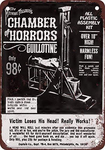 SIGNCHAT 1966 Get tu propia Guillotine Modell Trabajo Metall Blechschild 20,3 x 30,5 cm