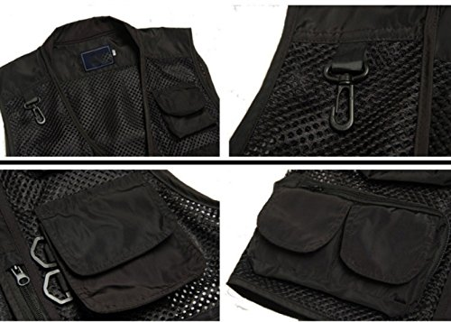 GLF Summer Camouflage Mesh Fotografia Camera Vest Multi-tasca Outdoor Casual Pesca Multifunzione Cavallo Clip A