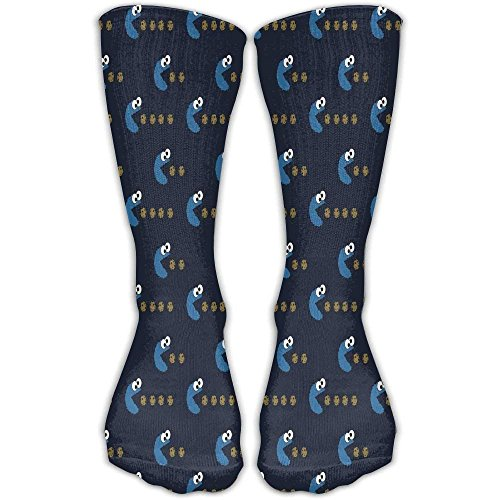 Dress rei Cookie Monster Unisex Printing 30CM Leisure Comfortable Sports Socks (Monster Dress Cookie)