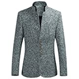Sannysis Lässiger Blazer Herren Slim Fit Herbst Winter Fashion Single Row Schnalle Large Size Langarm Anzug Mantel