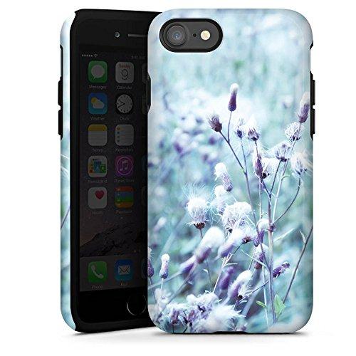 Apple iPhone 6 Plus Silikon Hülle Case Schutzhülle Wiese Blumen Natur Tough Case glänzend