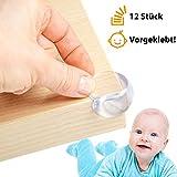12 x Avantina Eckenschutz und Kantenschutz | transparent, soft und weich aus Kunststoff | für Tisch-ecken und Möbel-kanten | Stoßschutz für Baby und Kind