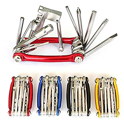 Vzer Portable Bicycle Repair Multitool Kit with Chain Breaker/ Hex Keys/Flat Head/Philips Screwdriver/Torx T-25 All in One Multifunction Bike Tools from Vzer