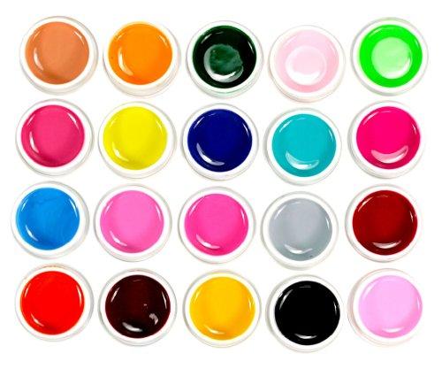 Micro Trader Ensemble de 20 nuances de vernis à ongles en gel UV