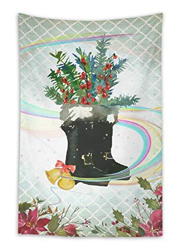 fel & Schmuck Winter-Thema Wandbehang Wandbehang Tapisserie gedruckt Wandkunst-54 x 44 Zoll ()