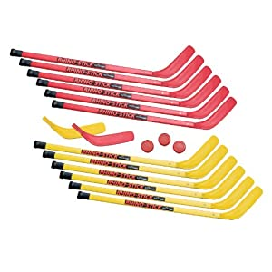 Champion Sports Rhino Stick Elementary-Hockey-Set (rot/gelb, 91 cm)