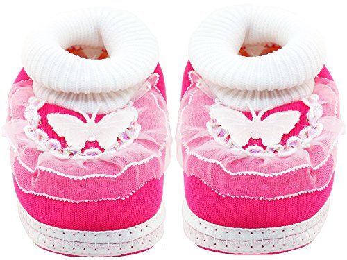 Neska Moda Kids Frill Butterfly Booties - 6 To 18 Months  available at amazon for Rs.199