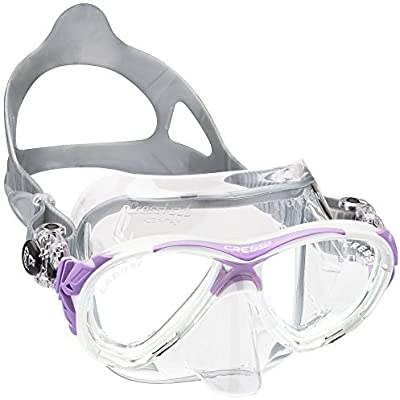 Cressi Eyes Evolution Scuba Diving Snorkeling Mask (Made in Italy), Clear/Lilac by Cressi