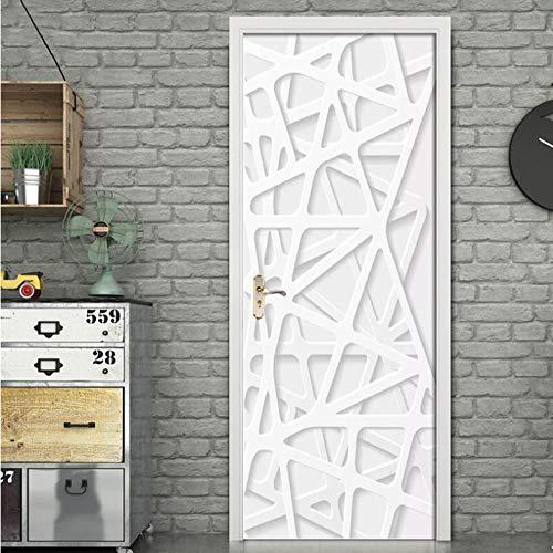 DSAOMO Stickers Porte Poster Créatif 3D Papier Peint Porte Trompe l'oeil pour Salon Chambre Décoration De La Maison Stickers Muraux Imperméable Stickers Amovibles 77x200cm (B x H)
