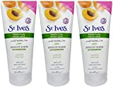 St Ives Apricot Scrub Invigorating Oil Free All Skin Types Large 200ml (3 Packs)