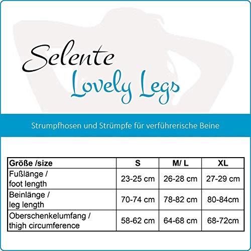 Selente Lovely Legs edle halterlose Damen Strümpfe (made in EU), schwarz mit Schleife in rot, Gr. M/L - 4
