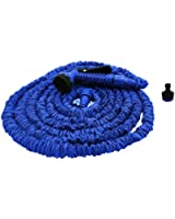 100ft Expanding Garden Hose Pipe with 7 Function Spray Gun and Garden Tap Connector - Specially Manufactured to a higher Tough Specification - Inner Hose is Strong Double Latex, Outer Hose is Rugged Polyester Silk Webbing - Expands up to 3 Times its Original Length - Lightweight and No more Kinking - Shrinks like Magic for Easy Storage.