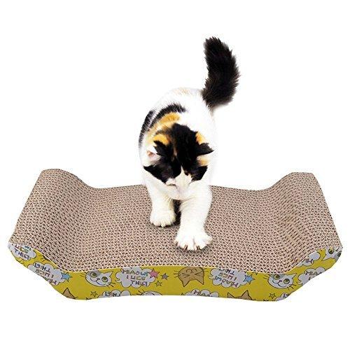 Maxmer el rascador del tamaño: 43x22x20cm, para los gatitos rayar las uñas.      Caracteristicas:1. La moderna, duradera, de doble cara se puede utilizar para ayudar al gato a rayar las garras.2. El catnip es más atractivo para el gato para m...
