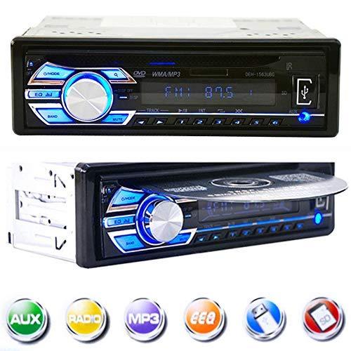 Mengen88 Auto MP5 DVD-Player, Doppel-Din-Auto-Stereo-Multimedia-System FM Auto-Radio-Unterstützung USB/SD/AUX und DVD VCD Disc-Wiedergabe - mit Fernbedienung Avi Ipod Mp4