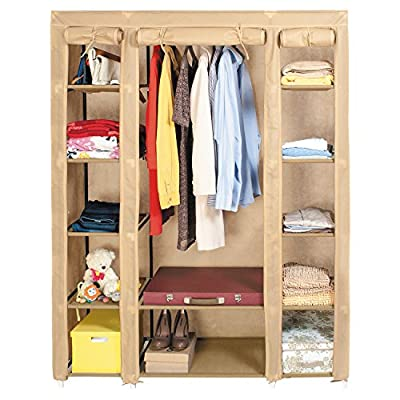 Artmoon Montreal Triple Canvas Foldable Wardrobe 175X45X135 cm