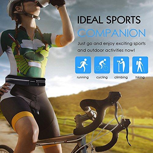 LAAT Hoch Elastik Laufband Gürtel Taille Pack Outdoor Stretch Sporttaschen Anti-Diebstahl Wasserdichte Handy Tasche Laufsport Radfahren Männer und Frauen Fitness grün