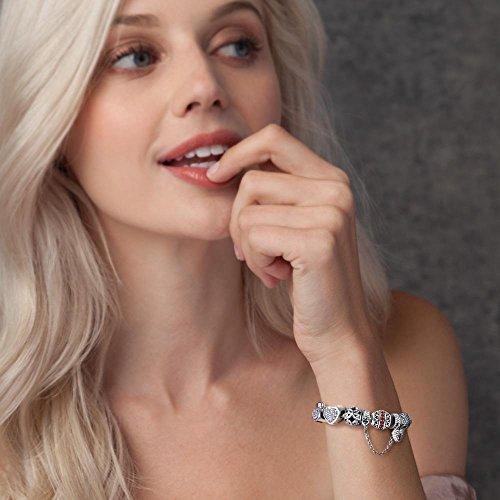 Soufeel 925 Argent Valentin Cadeau Anniversaire Cristal Heart Charm Compatible Européen Bracelet Pour Charms Colliers Bracelet Janvier