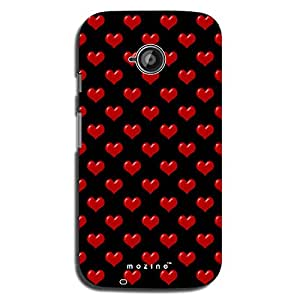 Mozine Red Love Pattern printed mobile back cover for Motorola moto e 2nd gen
